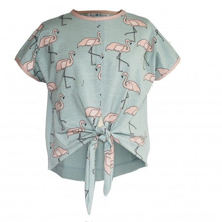 Flamingo knoop T-shirt M