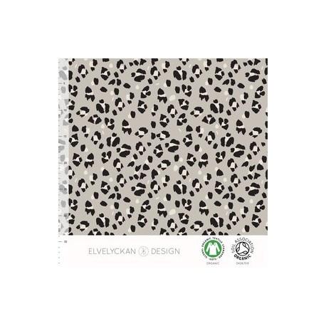 French Terry print Lynx Dots - desert