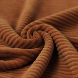 Corduroy hazelnoot bruin jersey