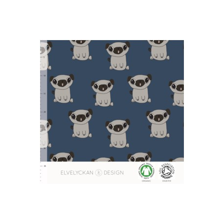 French terry print  Pug