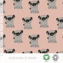 French Terry print Pug dusty pink (009)