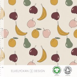 Jersey print Fruit salad creme (027)