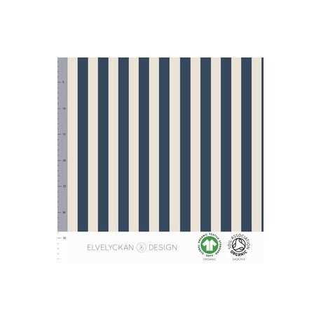 Jersey print Verticale streep Dark blue (015)/creme(027)