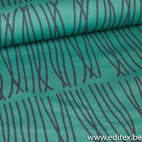 French terry Print Swirls (EV)