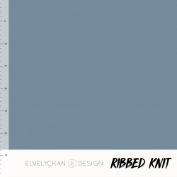 Ribbed Knit  Bleu (011)