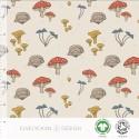 Jersey print Mushrooms creme( 027)