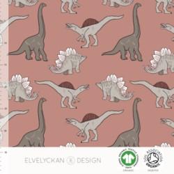 Jersey print Dino blush pink ( 051)
