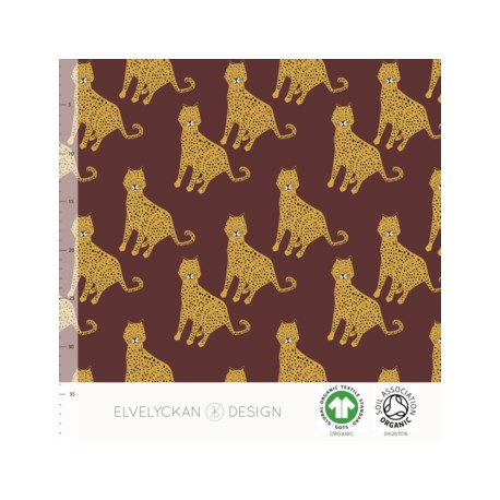 French Terry Print Leopard Wine (013)