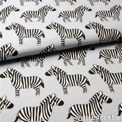 French Terry print Zebra  Eva M( E 2000-900)