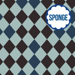 Sponge/badstof Harlequin