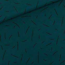 French terry print Strikes ponderosa green (SYatS)