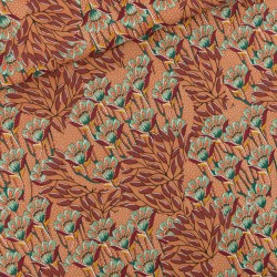 Viscose Gilly flowers Zonnebrandbruin (SYatS)