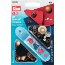 Prym naaivrije drkknopen 15 mm,zwart ,390307