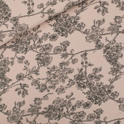 French terry print Cherry blossom SYatS
