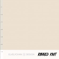 Ribbed knit creme (027)