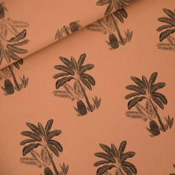 French terry print Palm trees