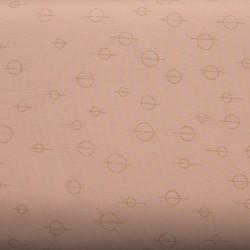 Jersey  print circles- Zalm Roze